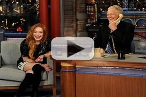 VIDEO: Sneak Peek - Lindsay Lohan Phones Oprah on Tonight's DAVID LETTERMAN