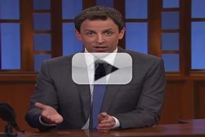 VIDEO: SETH MEYERS on Stephen Colbert Hiring: 'He's a Perfect Replacement'
