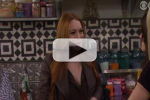 VIDEO: First Look - Lindsay Lohan Guests on CBS's 2 BROKE GIRLS