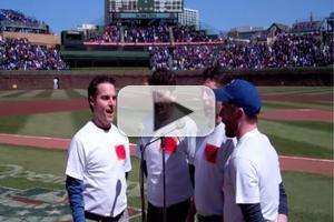 VIDEO: The Four C Notes Sing National Anthem at Wrigley Field
