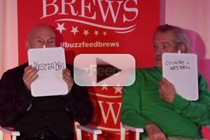 VIDEO: Patrick Stewart and Ian McKellen Play The Newlywed Game