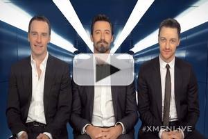 VIDEO: Hugh Jackman, James McAvoy and Michael Fassbender Announce X-MEN X-PERIENCE