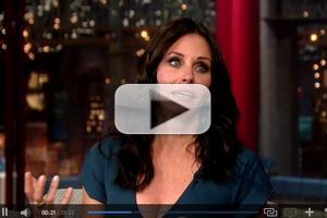 VIDEO: Courtney Cox Talks 'Friends' Reunion on LETTERMAN