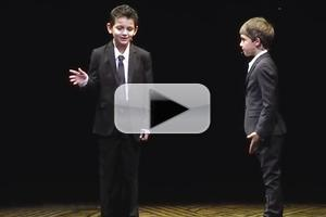 STAGE TUBE: NEWSIES Boys Clarify the Broadway Lineup in Abbott & Costello Act at EASTER BONNET!