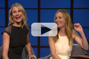VIDEO: Cameron Diaz, Leslie Mann Chat New Film 'The Other Woman' on SETH MEYERS