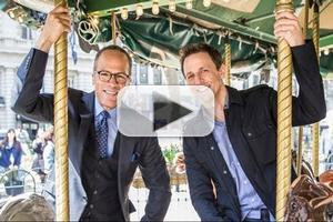 VIDEO: NBC Forces Friendship Between Seth Meyers & Lester Holt on LATE NIGHT