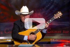 VIDEO: STEPHEN COLBERT Woos Controversial Rancher Cliven Bundy with Original Folk Ballad
