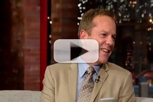 VIDEO: Proud Dad Kiefer Sutherland Praises 'Veep' Star Daughter on LETTERMAN