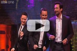 VIDEO: X-MEN's Hugh Jackman, Michael Fassbender and James McAvoy Dance to 'Blurred Lines' on GRAHAM NORTON