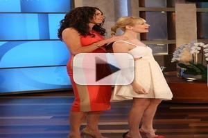 VIDEO: Beth Behrs and Minnie Driver Play 'Heads Up!' on ELLEN