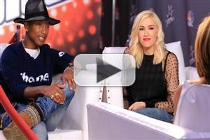 VIDEO: Pharrell Williams, Gwen Stefani Chat Next Season of THE VOICE