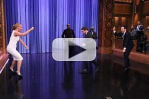 VIDEO: Amy Schumer, James McAvoy & The Roots Play Double Dutch on FALLON
