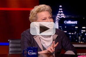VIDEO: Bette Midler Chats Memoir & Being 'Devine' on COLBERT
