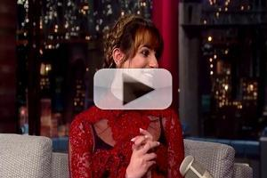 VIDEO: Lea Michele Talks BRUNETTE AMBITION, GLEE Drama and More on LETTERMAN