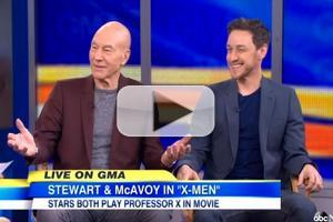 VIDEO: James McAvoy, Patrick Stewart Talk 'X-MEN' on GMA
