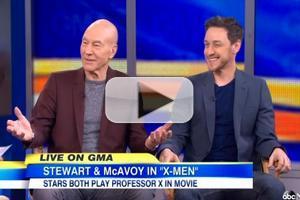 VIDEO: James McAvoy, Patrick Stewart Talk 'X-MEN' on GMA