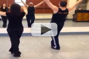 STAGE TUBE: Sneak Peek at Hugh Jackman Tapping in Rehearsal for the Tonys!