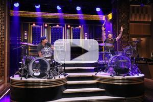VIDEO: Will Ferrell & Chad Smith Have 'Drum-Off' Battle on JIMMY FALLON