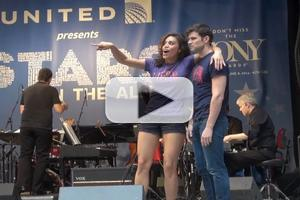BWW TV: PIPPIN's Ciara Renee and Kyle Dean Massey Get on the Right Track at STARS IN THE ALLEY