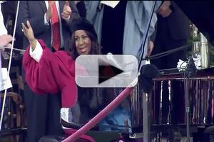 VIDEO: Aretha Franklin Receives Honorary Doctorate at Harvard; Sings National Anthem