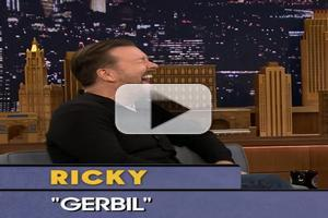 VIDEO: Ricky Gervais Plays 'Word Sneak' on JIMMY FALLON