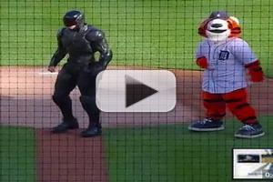 VIDEO: Watch ROBOCOP Throw Out First Pitch at Detroit Tigers Game