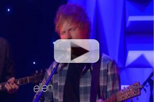 VIDEO: ED SHEERAN Performs Hit Single 'Sing' on Ellen