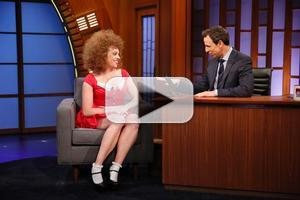 VIDEO: Grown Up ANNIE Returns to 'Seth Meyers' to Give Tony Preview!