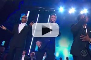 STAGE TUBE: Hugh Jackman, LL Cool J & T.I. Rap THE MUSIC MAN at 2014 Tony Awards