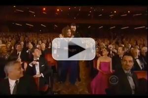 STAGE TUBE: Jackman Schmoozes with Leading Ladies Davies, Foster, Menzel, Mueller and O'Hara at the 2014 Tony Awards