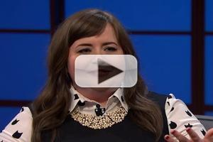VIDEO: SNL's Aidy Bryant Makes Talk Show Debut on SETH MEYERS