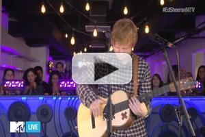 VIDEO: Ed Sheeran Performs Acoustic Versions of 'Sing' & 'Thinking Out Loud'