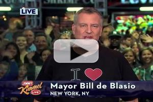 VIDEO: NY Mayor Bill de Blasio Sings 'I Love LA' on KIMMEL After Losing Stanley Cup Bet