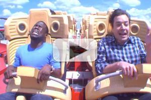 VIDEO: Kevin Hart Conquers His Fear of Roller Coasters on JIMMY FALLON