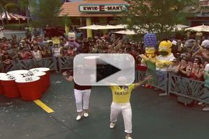VIDEO: Jimmy Fallon & Pitbull Face Off in Giant Game of Duff Beer Pong on TONIGHT SHOW