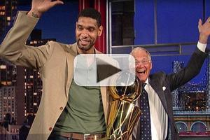 VIDEO: NBA Champ Tim Duncan Visits DAVID LETTERMAN