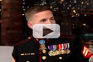 VIDEO: Medal of Honor Recipient Cpl Carpenter Talks Call from President Obama on LETTERMAN
