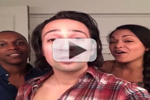 STAGE TUBE: Miranda and Olivo Warm-Up to RENT Again, But This Time Leslie Odom Jr. Joins In