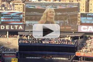 VIDEO: BULLETS OVER BROADWAY's Betsy Wolfe Sings National Anthem at Yankee Game