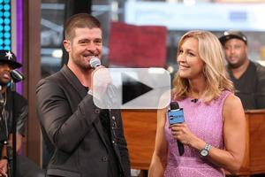 VIDEO: Robin Thicke Talks New Album, Wooing Wife Paula on GMA