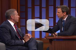 VIDEO: Brian Williams Talks Edward Snowden Interview & More on LATE NIGHT