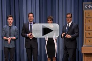 VIDEO: Halle Berry, Chris Colfer & Jimmy Fallon Team for TONIGHT SHOW Charades
