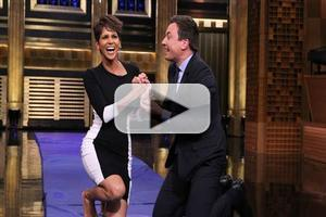 VIDEO: Jimmy Fallon & Halle Berry Make Human Hamster Roll on TONIGHT