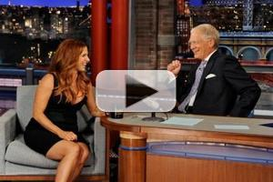 VIDEO: Poppy Montgomery Reveals Pregnancy on DAVID LETTERMAN!