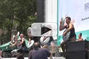 BWW TV: STOMP Cast Gets Percussive in Bryant Park!