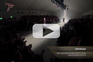 VIDEO: Simon Gao Mercedes Benz London Fashion Week A/W 2014-15