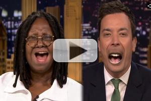 VIDEO: Whoopi Goldberg Plays Lip Flip, Talks 'Ninja Turtles' on TONIGHT SHOW