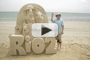 VIDEO: Watch RIO 2 Rio 2 Sand Sculpting Time-Lapse Video!