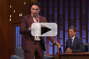 VIDEO: 'BULLETS' Star Zach Braff Re-enacts His Broadway-Themed Bar Mitzvah on 'Late Night'