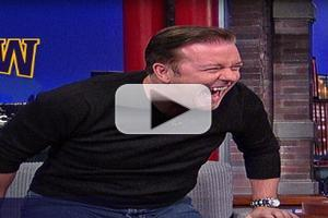 VIDEO: Dave Gets Too Personal with Ricky Gervais on LATE SHOW